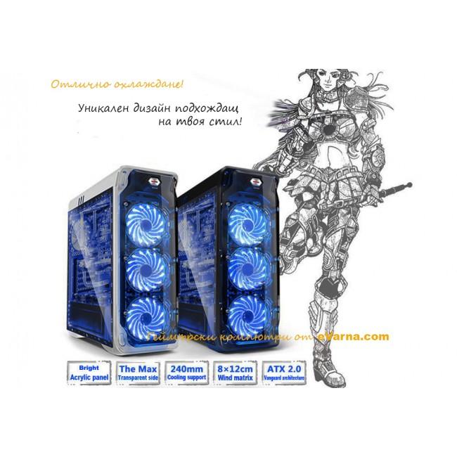 8 ядрен Компютър FX-8300, RAM 8GB, HDD 1TB, GTX 1060 6GB ТОП Цена! - Компютри за Игри от Evarna