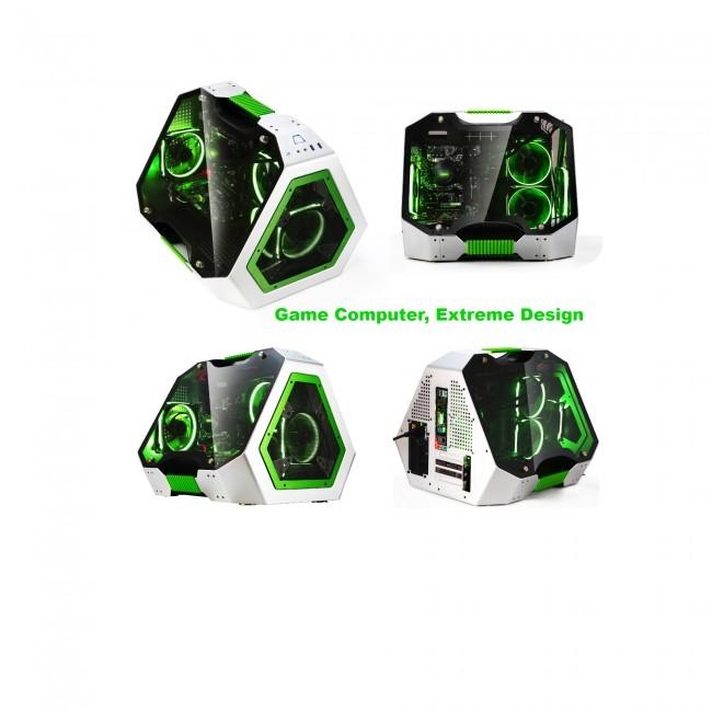 Дизайнерски Геймърски компютър с 16 Логически ядра, GTX 1070 8GB, 4000 Диск - Компютри за Игри от Evarna