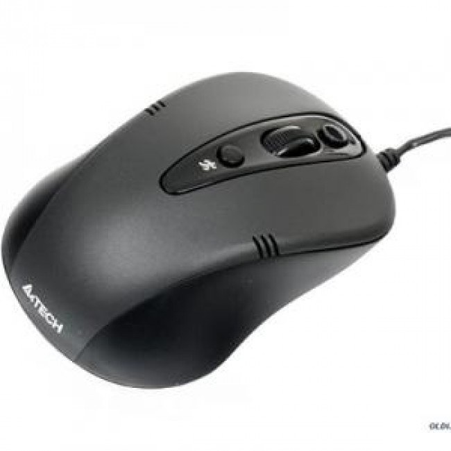 ЖИЧНА МИШКА A4TECH N-370FX, V-TRACK PADLESS, ЧЕРЕН, USB
