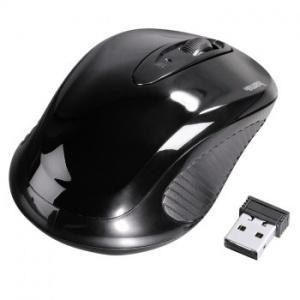 БЕЗЖИЧНА ОПТИЧНА МИШКА HAMA AM-7300, USB, ЧЕРЕН, КАРТОНЕНА ОПАКОВКА